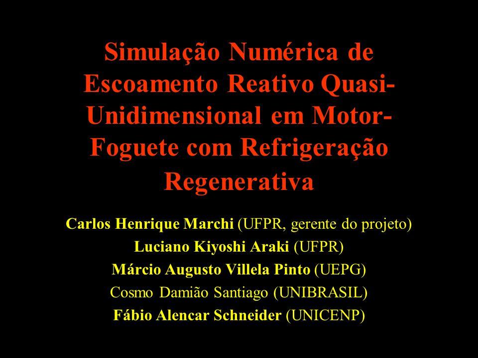 Simulação Numérica de Escoamento Reativo Quasi-Unidimensional em Motor-Foguete com Refrigeração Regenerativa