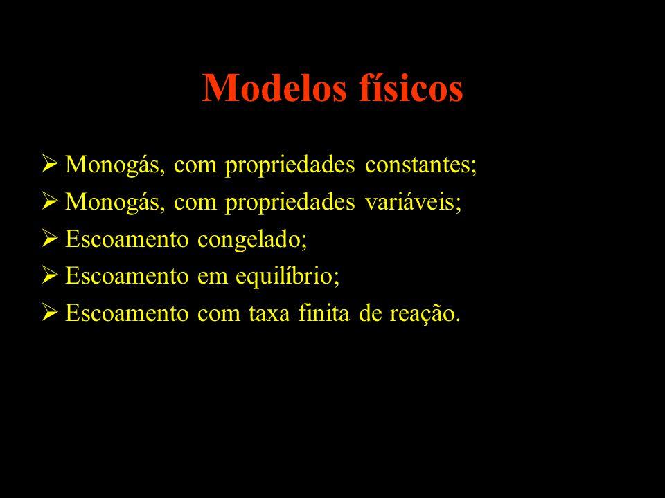 Modelos físicos Monogás, com propriedades constantes;
