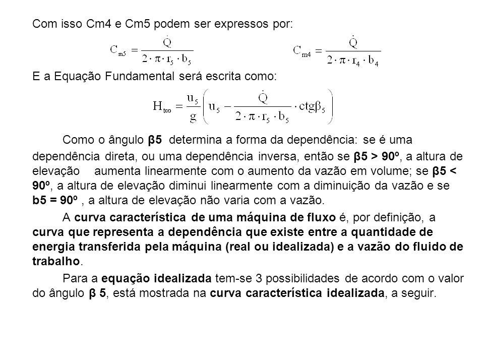Com isso Cm4 e Cm5 podem ser expressos por: