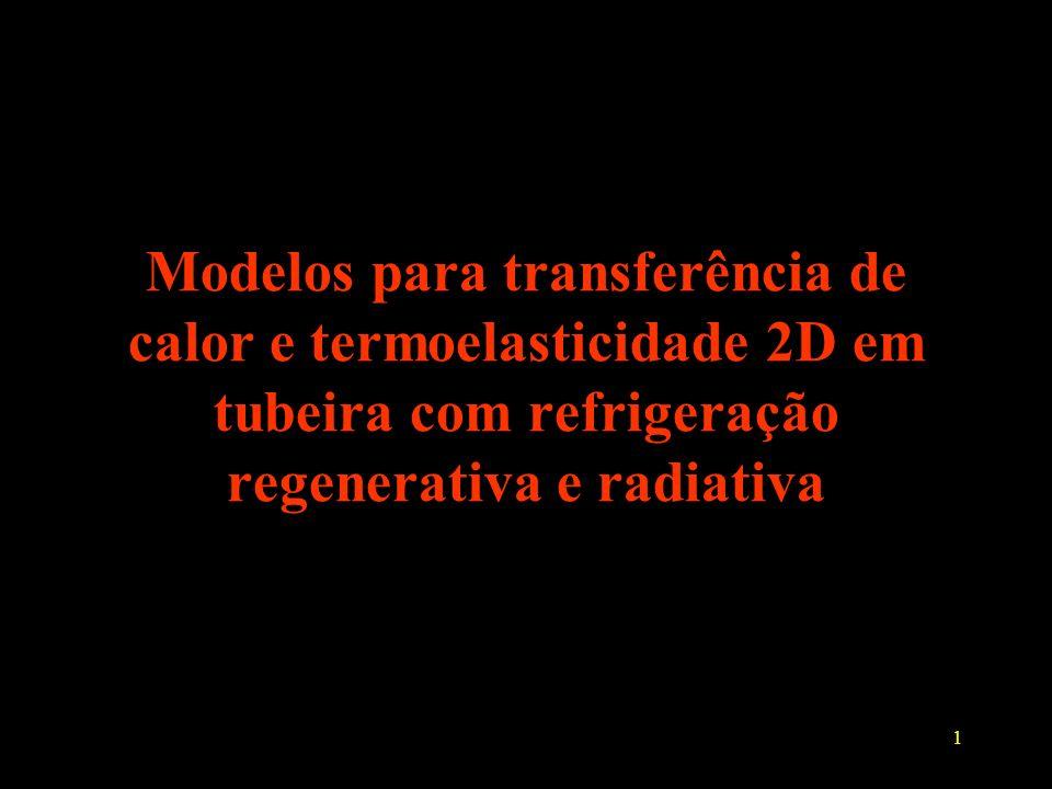 Modelos para transferência de calor e termoelasticidade 2D em tubeira com refrigeração regenerativa e radiativa