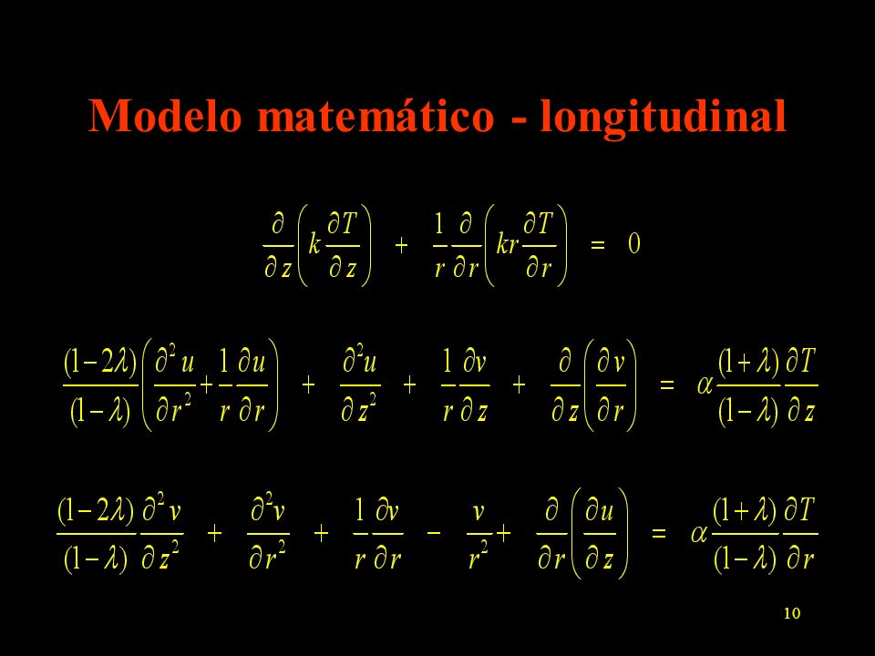 Modelo matemático - longitudinal