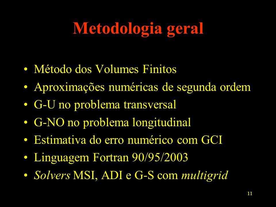 Metodologia geral Método dos Volumes Finitos