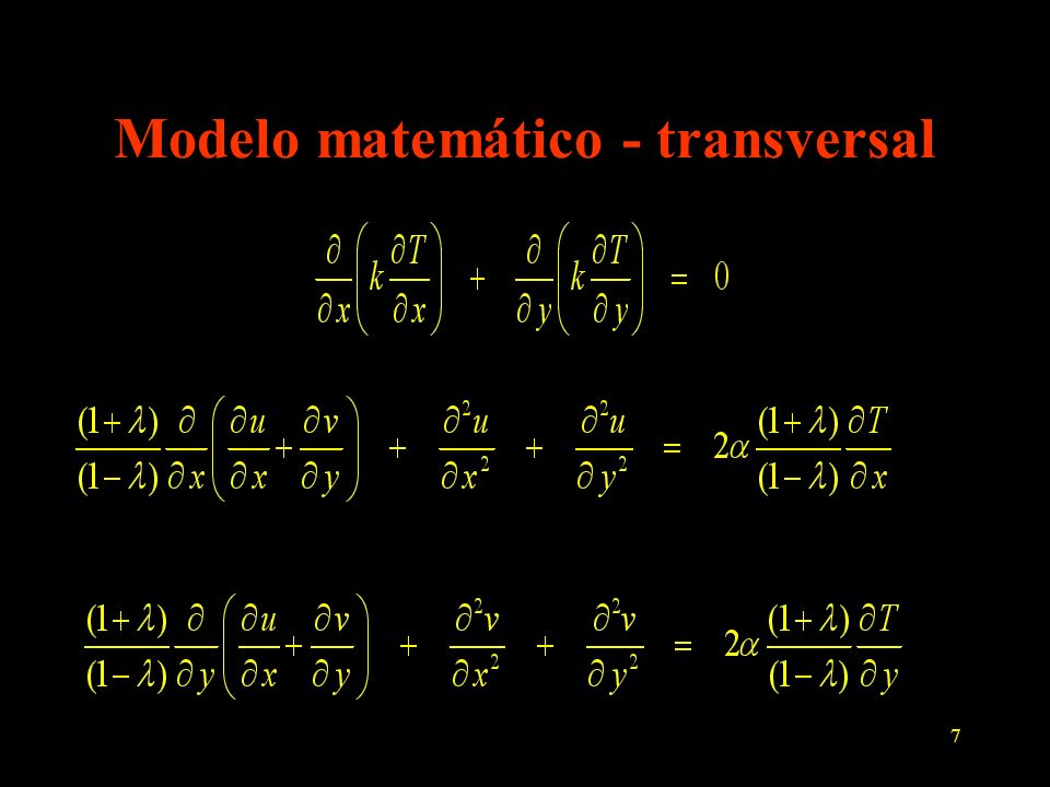 Modelo matemático - transversal