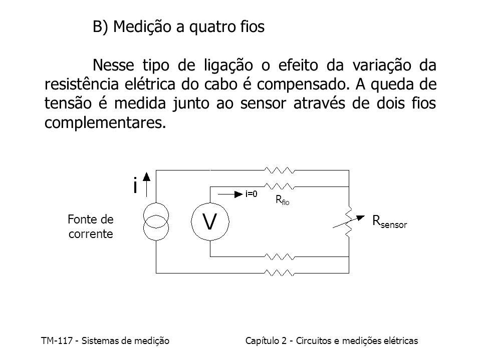 B) Medição a quatro fios