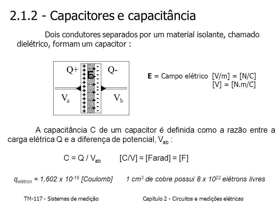 2.1.2 - Capacitores e capacitância