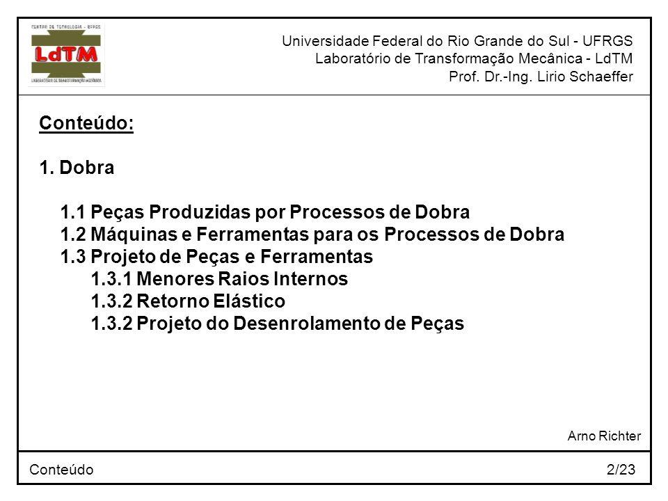 1.1 Peças Produzidas por Processos de Dobra