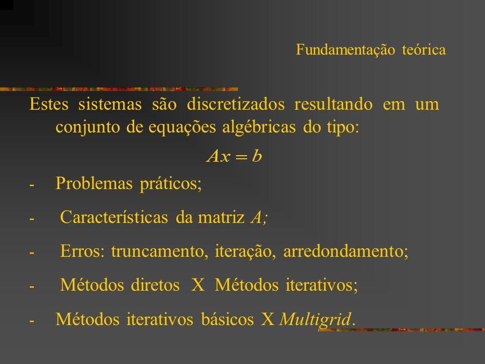 Características da matriz A;
