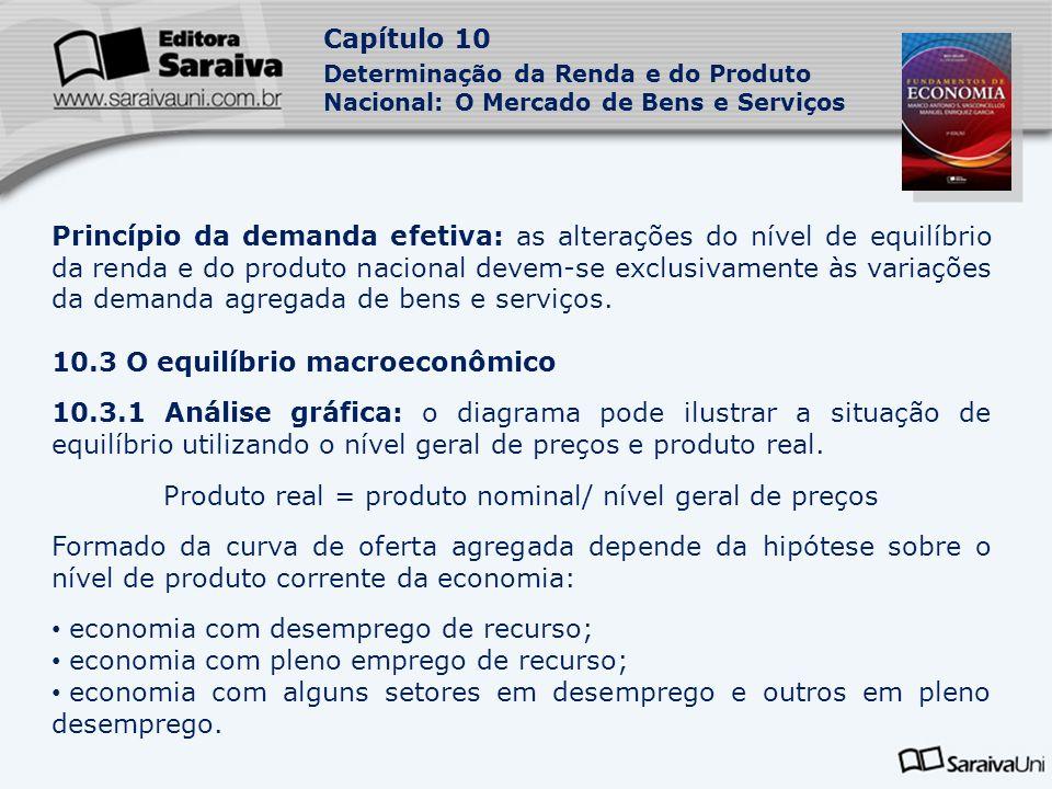 Produto real = produto nominal/ nível geral de preços