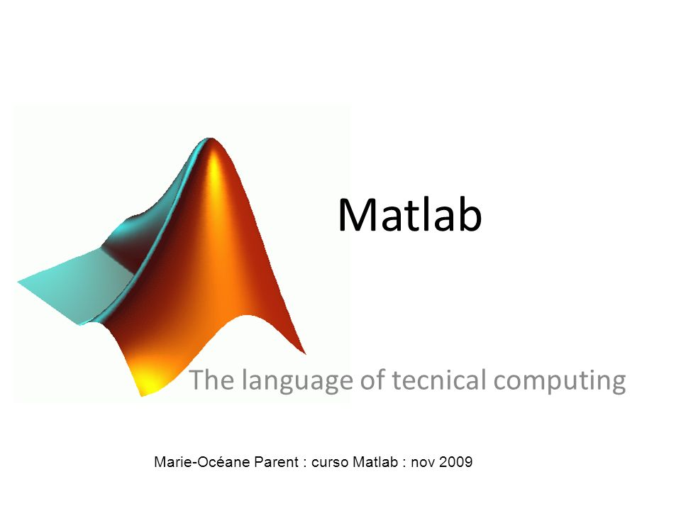 The language of tecnical computing