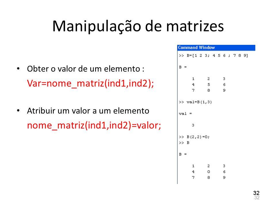 Manipulação de matrizes