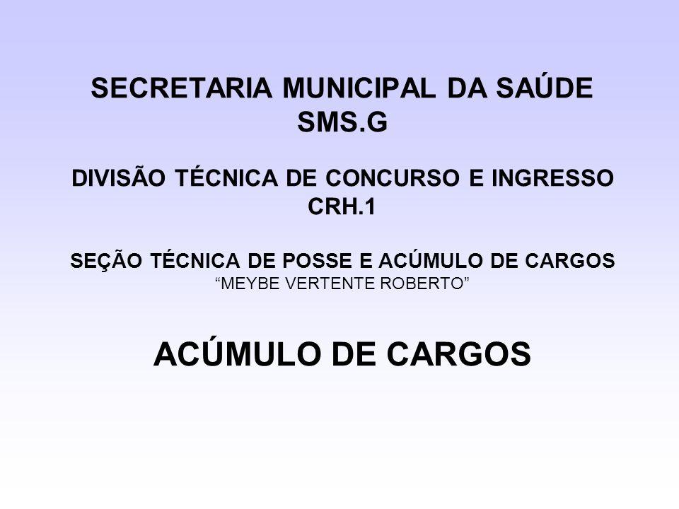 SECRETARIA MUNICIPAL DA SAÚDE SMS