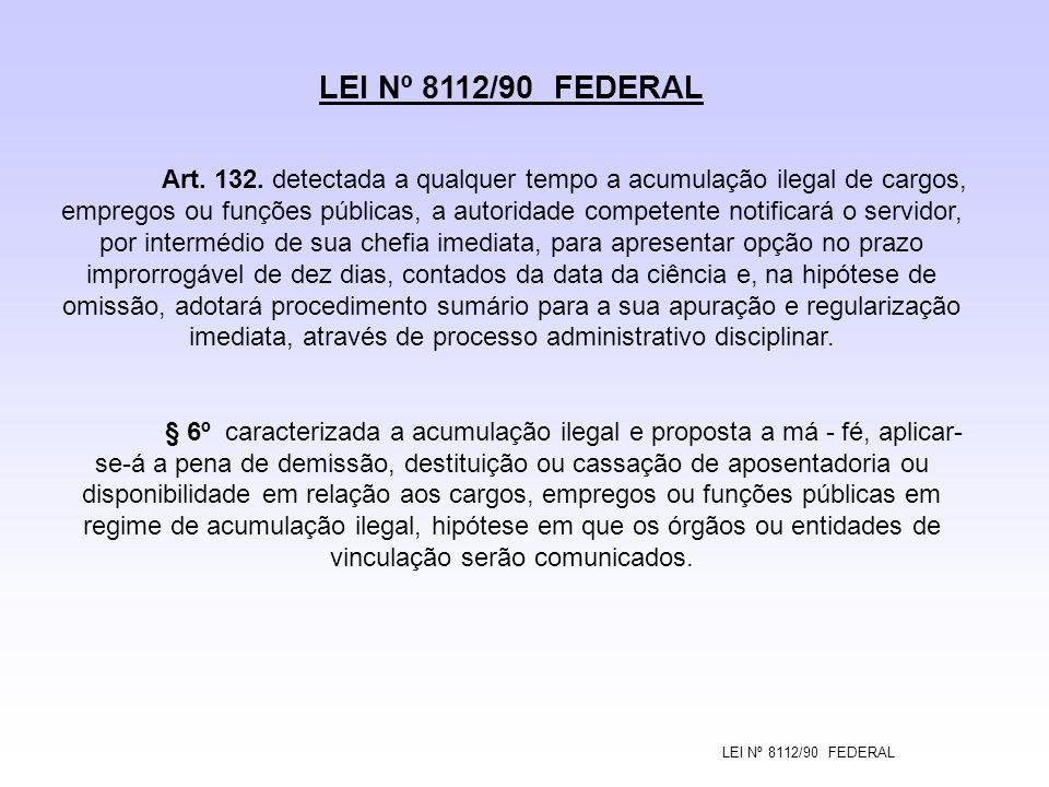 LEI Nº 8112/90 FEDERAL