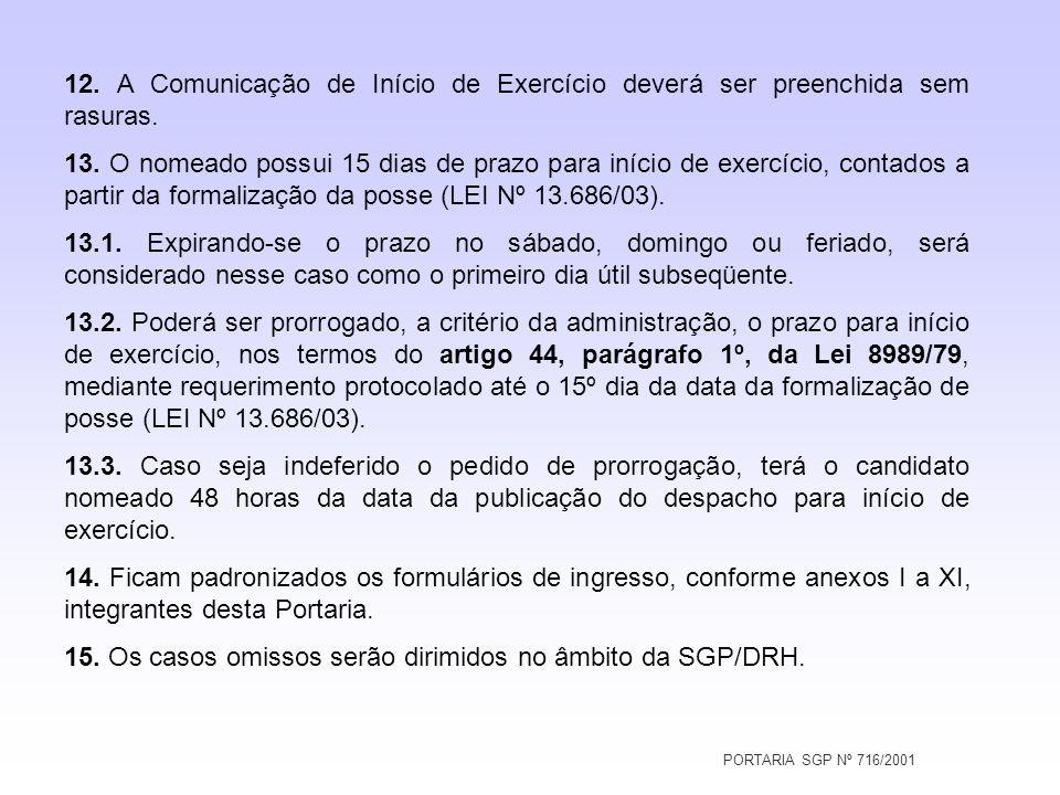 15. Os casos omissos serão dirimidos no âmbito da SGP/DRH.