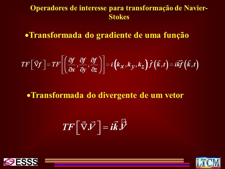 Operadores de interesse para transformação de Navier-Stokes