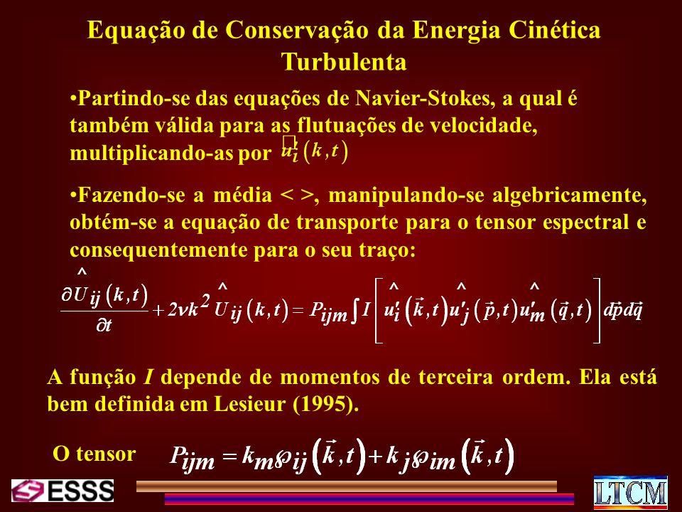 Equação de Conservação da Energia Cinética Turbulenta