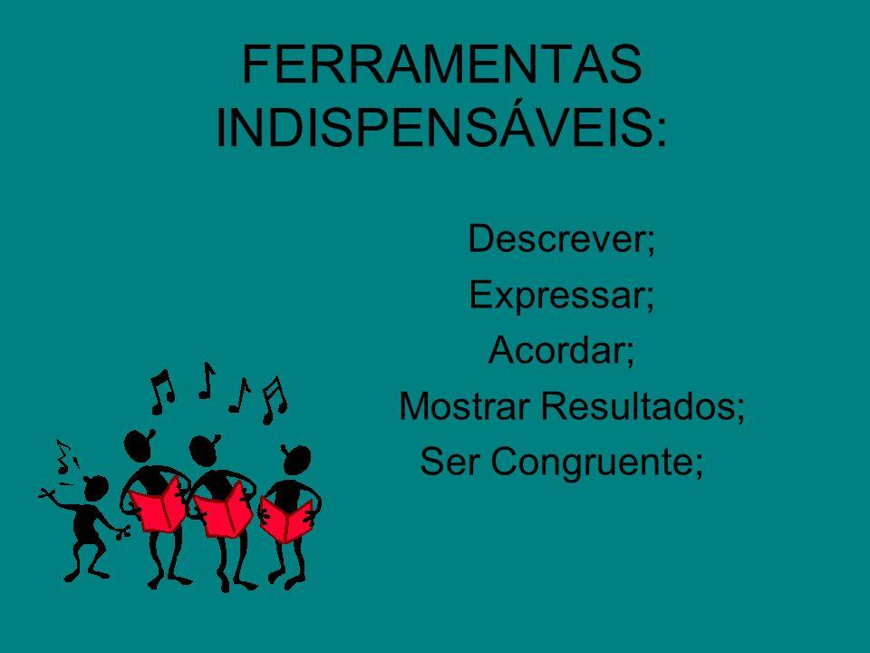 FERRAMENTAS INDISPENSÁVEIS: