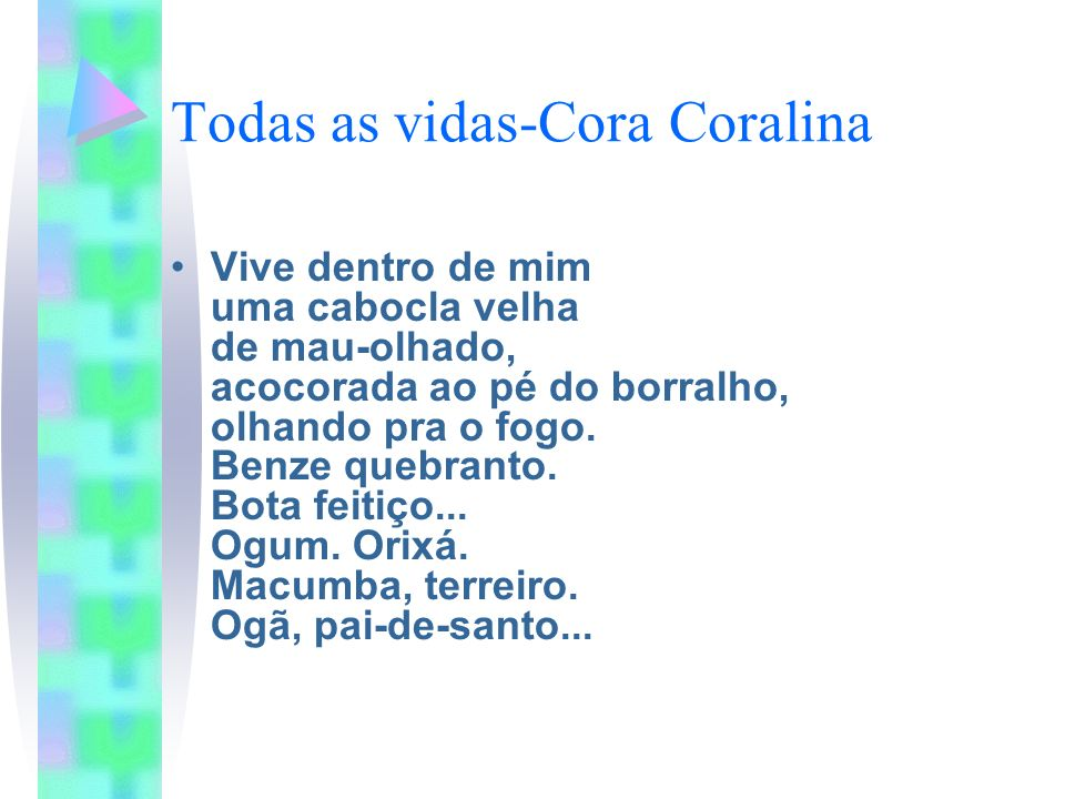 Todas as vidas-Cora Coralina