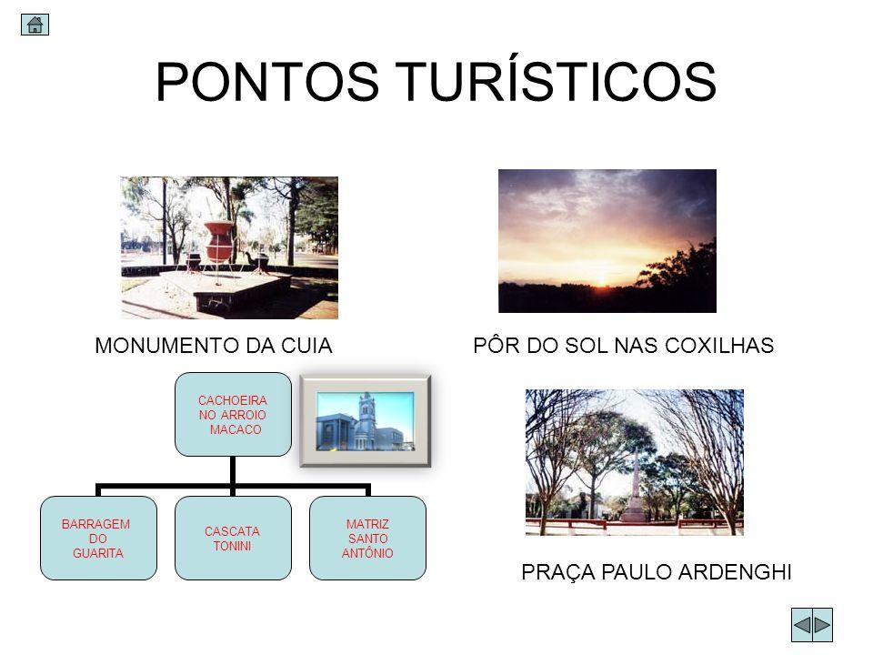 PONTOS TURÍSTICOS MONUMENTO DA CUIA PÔR DO SOL NAS COXILHAS