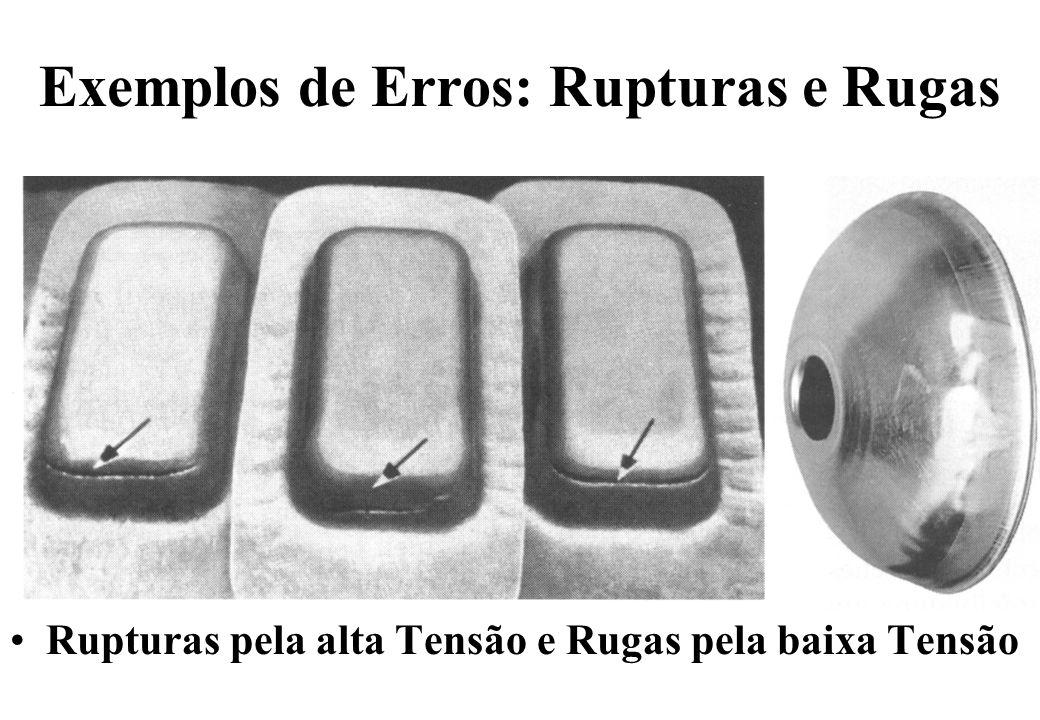 Exemplos de Erros: Rupturas e Rugas