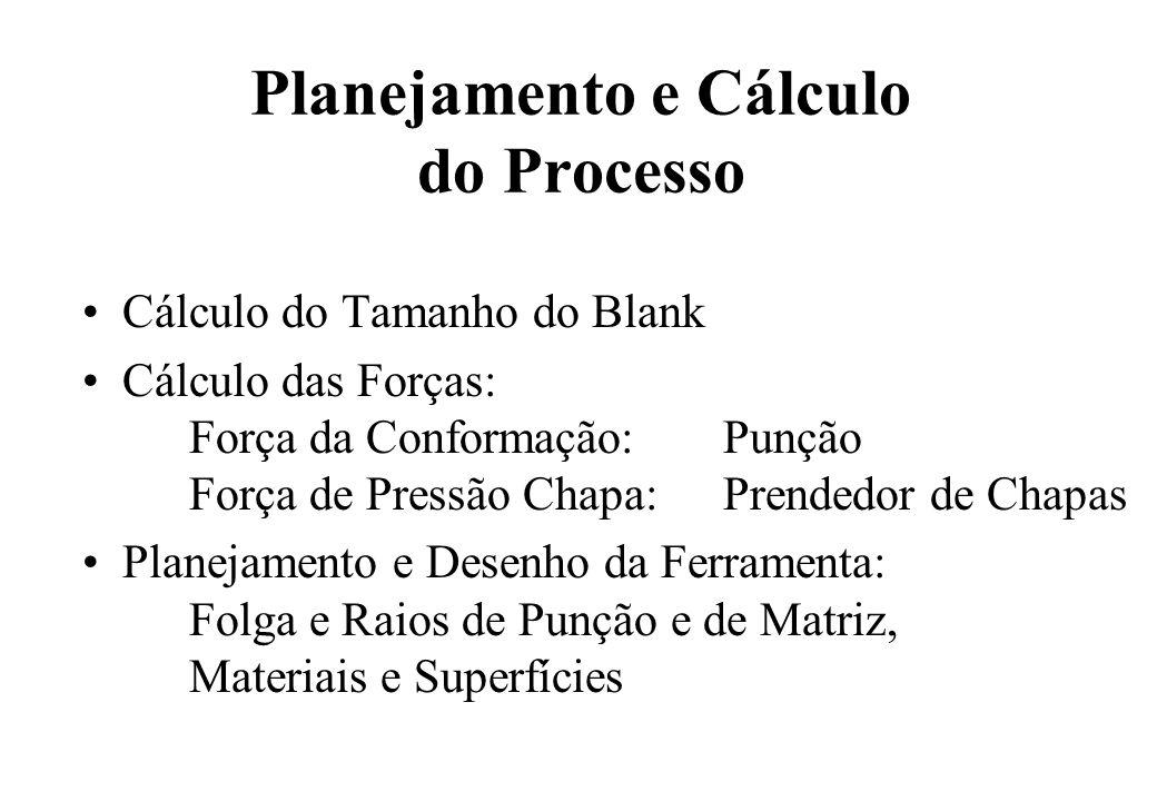 Planejamento e Cálculo do Processo