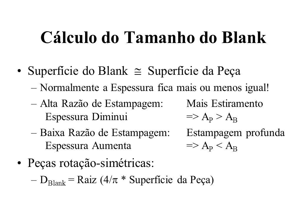 Cálculo do Tamanho do Blank