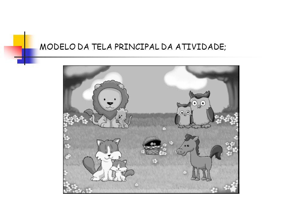 MODELO DA TELA PRINCIPAL DA ATIVIDADE;