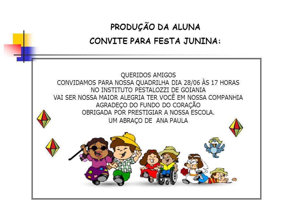 CONVITE PARA FESTA JUNINA: