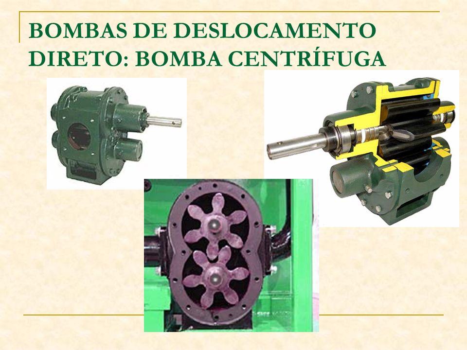 BOMBAS DE DESLOCAMENTO DIRETO: BOMBA CENTRÍFUGA