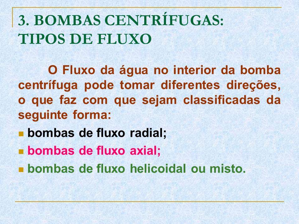 3. BOMBAS CENTRÍFUGAS: TIPOS DE FLUXO