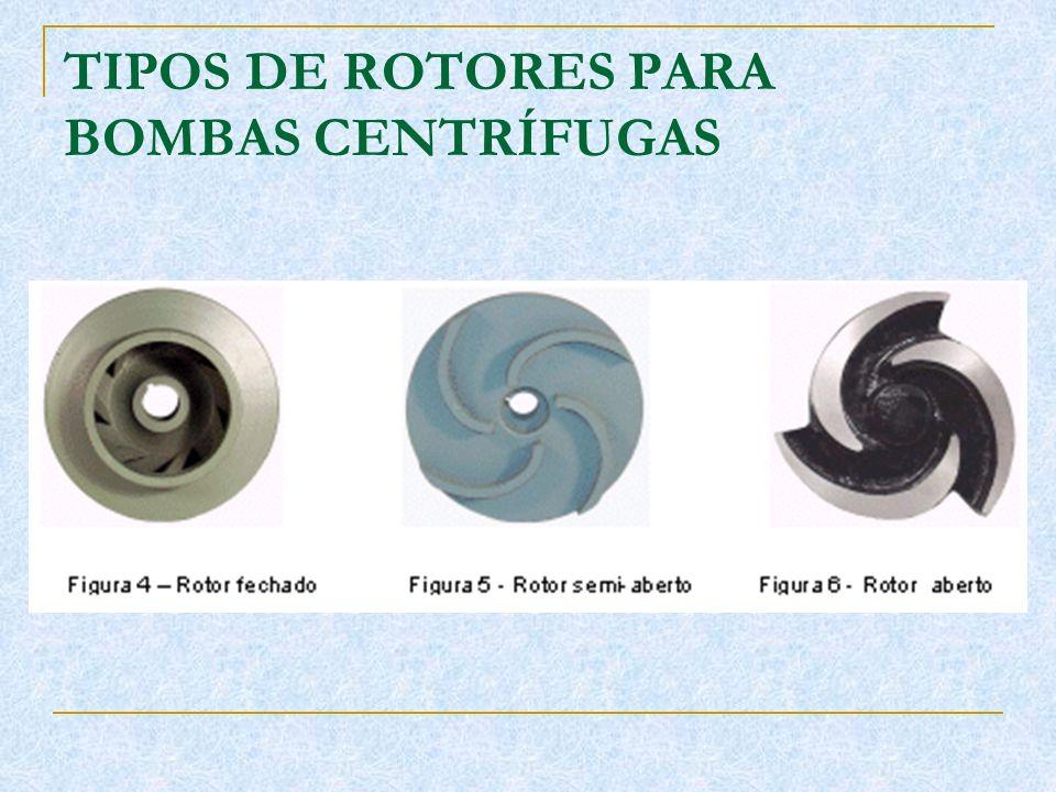 TIPOS DE ROTORES PARA BOMBAS CENTRÍFUGAS