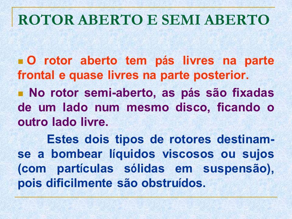 ROTOR ABERTO E SEMI ABERTO