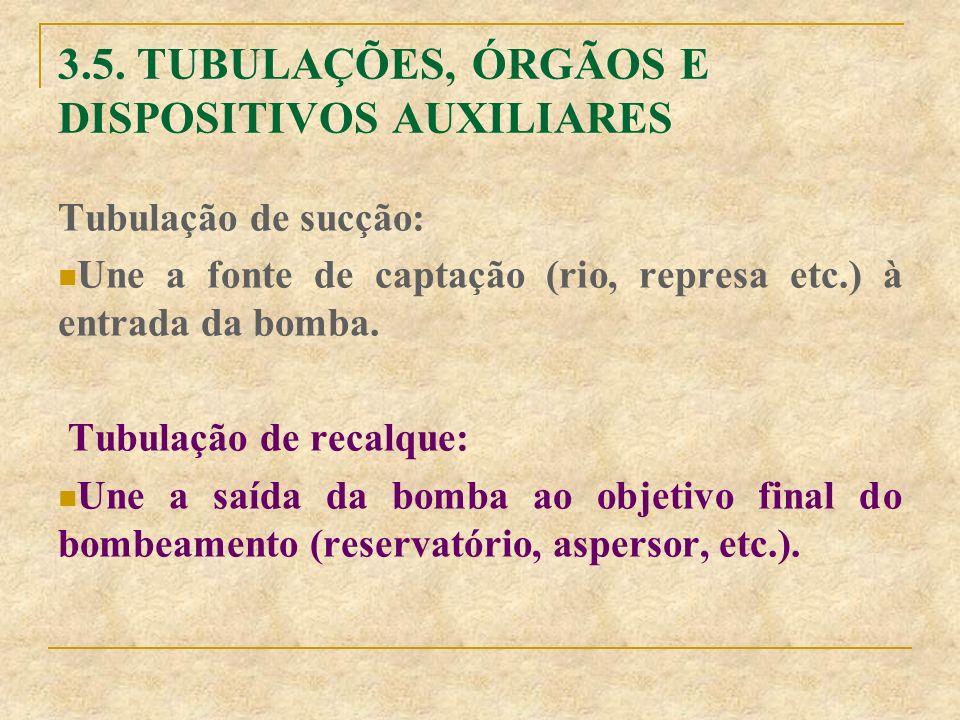 3.5. TUBULAÇÕES, ÓRGÃOS E DISPOSITIVOS AUXILIARES