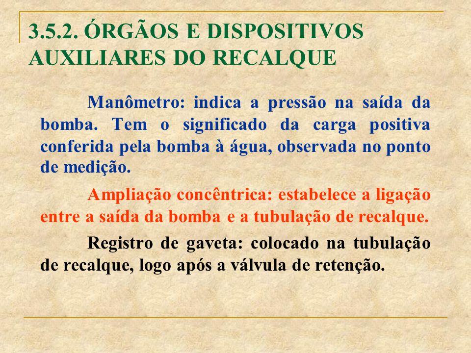 3.5.2. ÓRGÃOS E DISPOSITIVOS AUXILIARES DO RECALQUE