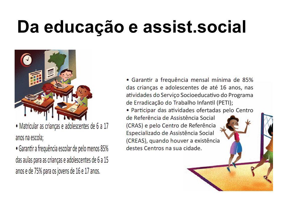 Da educação e assist.social