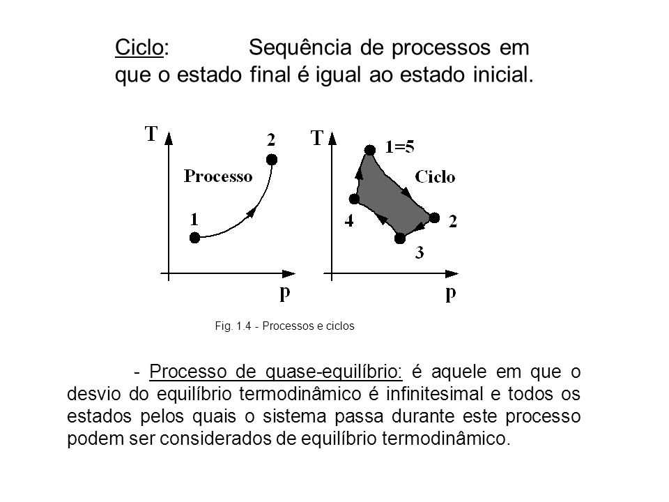 Fig. 1.4 - Processos e ciclos