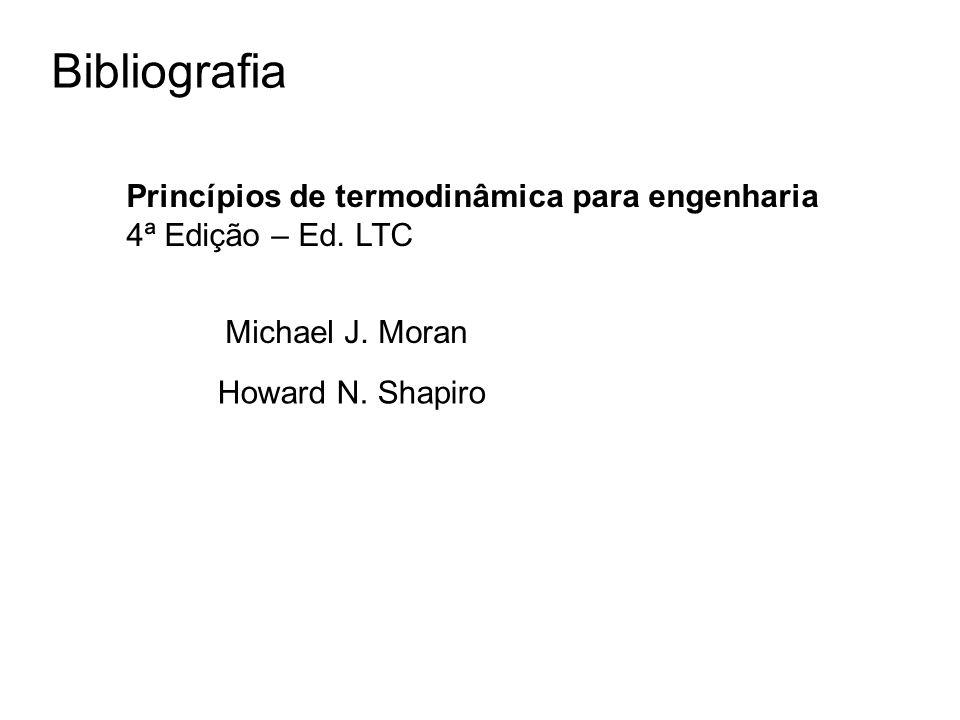 Bibliografia Princípios de termodinâmica para engenharia