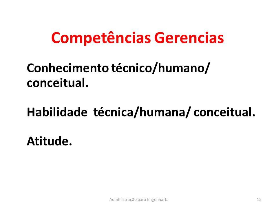 Competências Gerencias