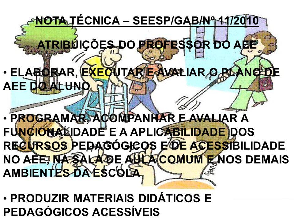 NOTA TÉCNICA – SEESP/GAB/Nº 11/2010