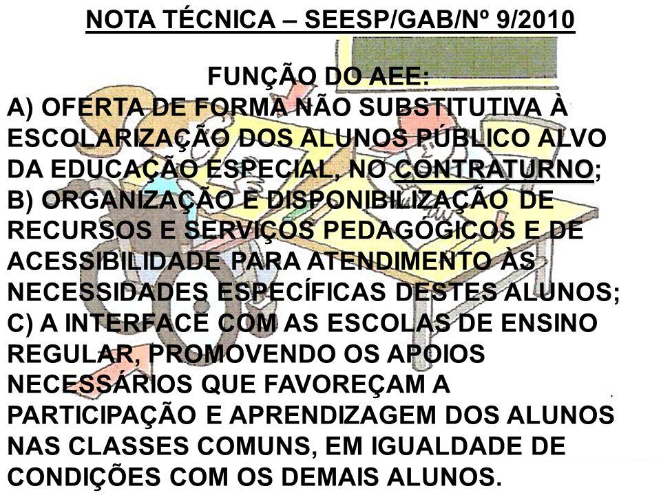 NOTA TÉCNICA – SEESP/GAB/Nº 9/2010