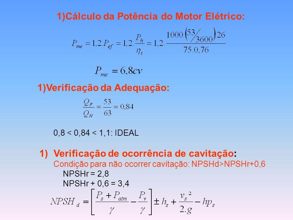 Cálculo da Potência do Motor Elétrico: