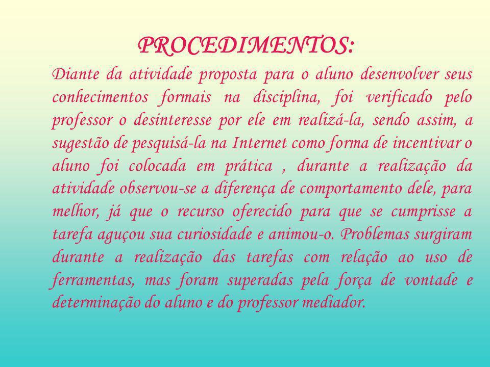 PROCEDIMENTOS: