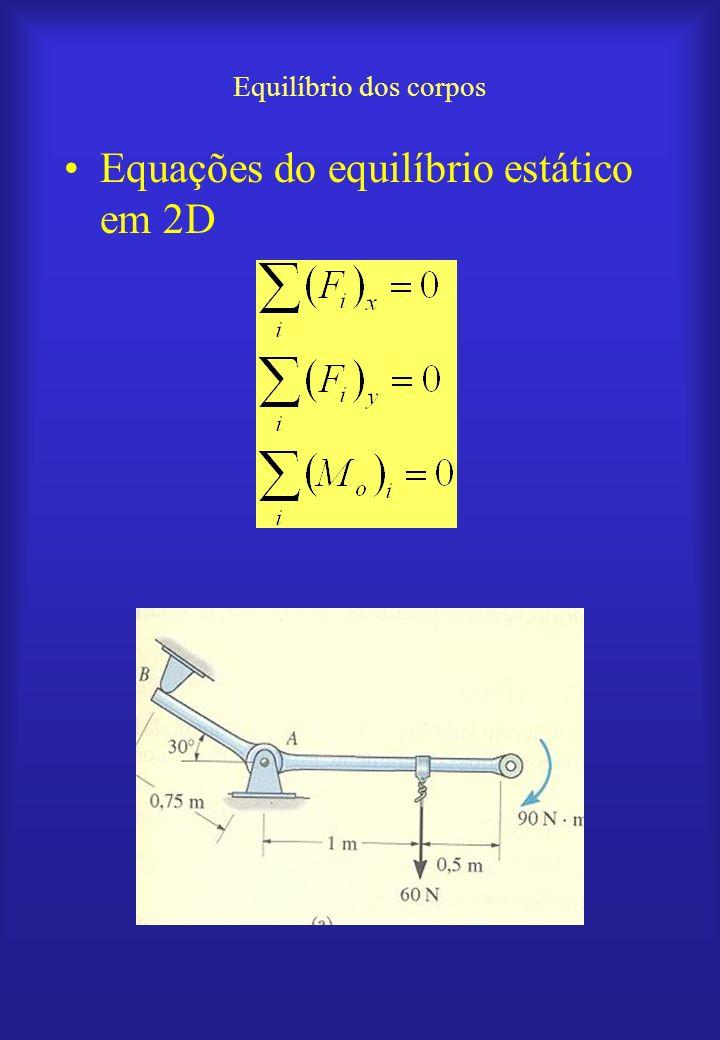 Equações do equilíbrio estático em 2D