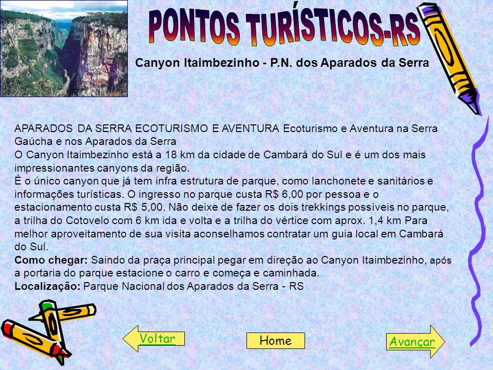 PONTOS TURÍSTICOS-RS Canyon Itaimbezinho - P.N. dos Aparados da Serra