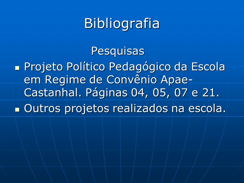 Bibliografia Pesquisas