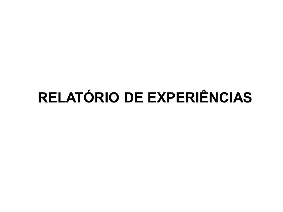RELATÓRIO DE EXPERIÊNCIAS