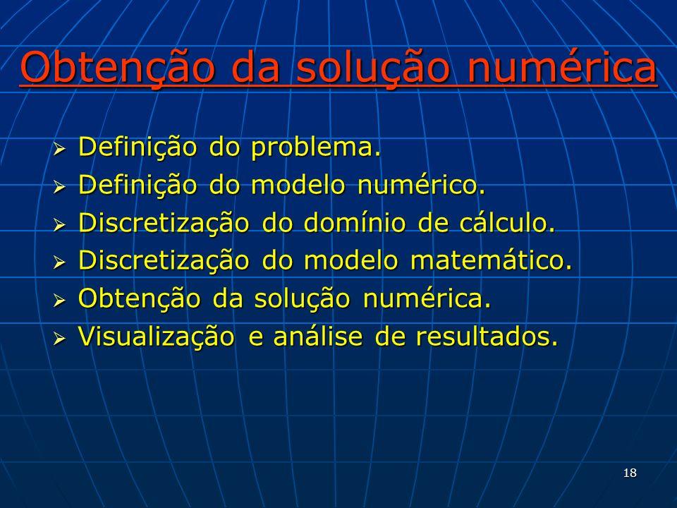 Obtenção da solução numérica