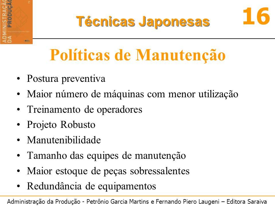 Políticas de Manutenção