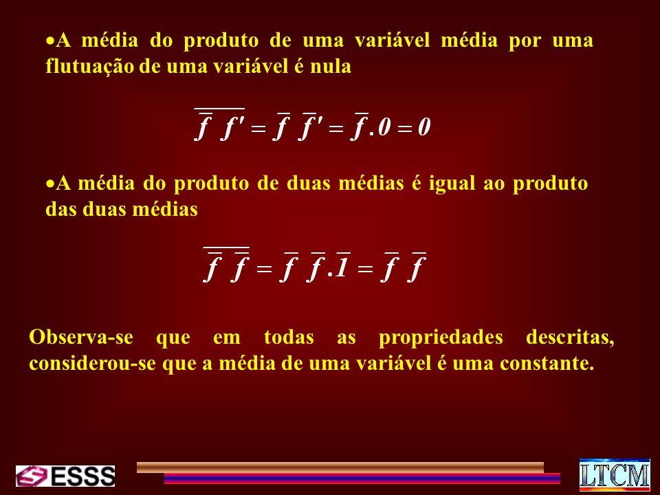 A média do produto de uma variável média por uma flutuação de uma variável é nula