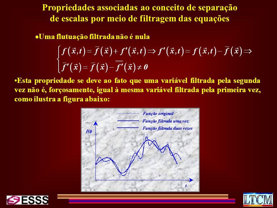 Propriedades associadas ao conceito de separação de escalas por meio de filtragem das equações
