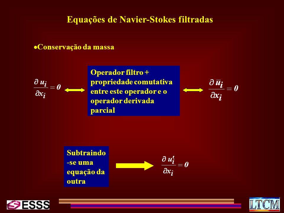 Equações de Navier-Stokes filtradas